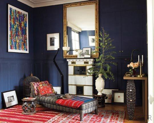 Dark blue living room rooms of color pinterest