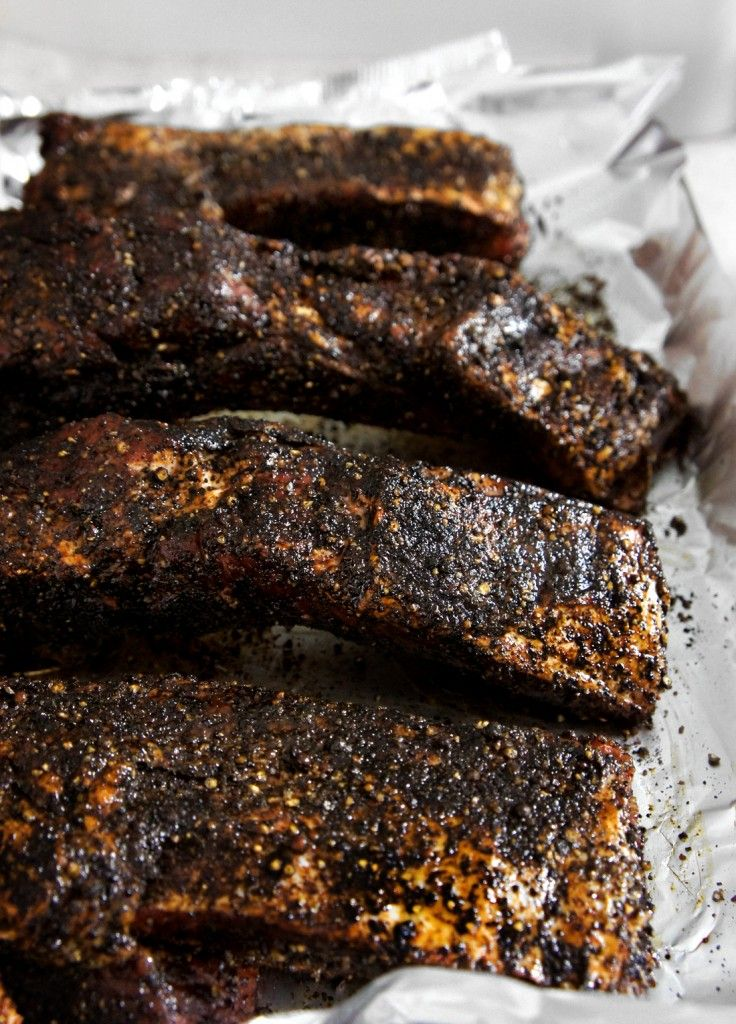 Coffee Brushed Barbeque Ribs Recipe — Dishmaps