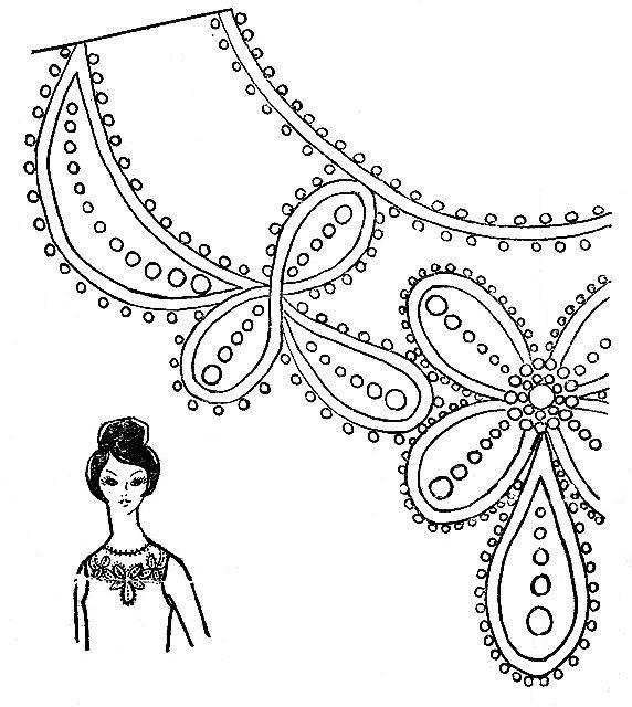 Узор для вышивки бисером на платье 77