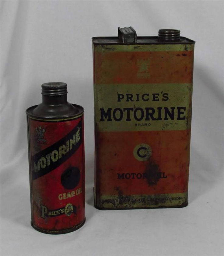 2 X Vintage C1930s Price 39 S Motor Oil Cans Tins