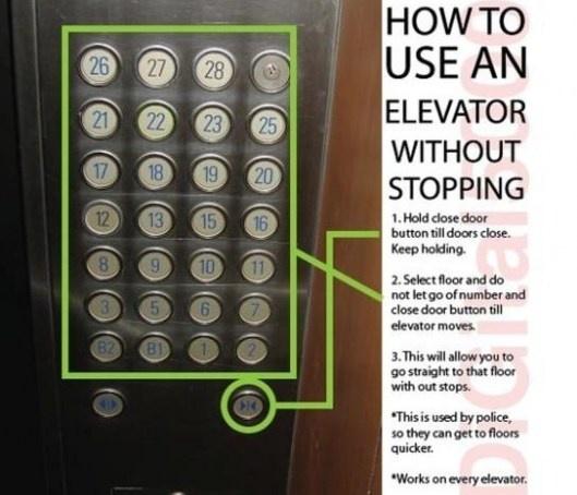 Elevator shortcut!