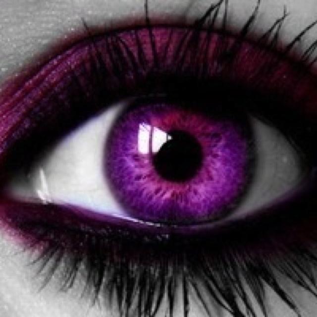 purple eye gorgeous colorful