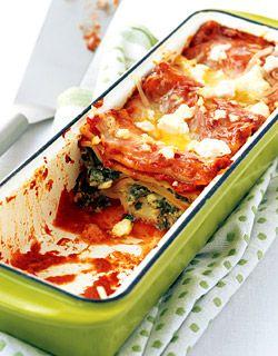 Spinach and Feta Lasagna via Canadian Family ok LOVE the dish!!!!! @ ...