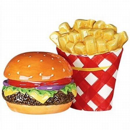 "hamburger and french fries walk into a bar. The bartender says, ""I'm..."