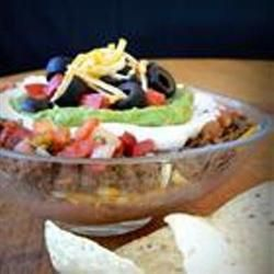 Skinny Seven Layer Dip. Made this, and it was delish! Will definitely ...