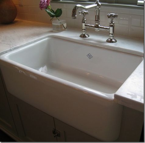 Big fan of farmhouse sinks for the home pinterest for Farm style kitchen sink