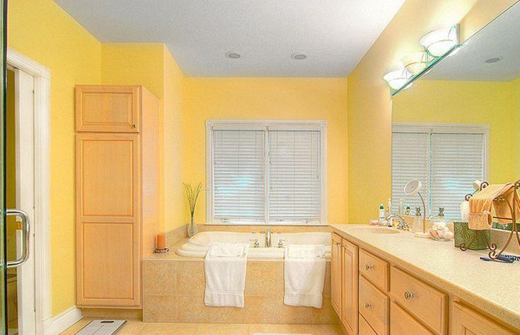 Calming yellow bathroom refreshing bathroom designs for Calming bathroom ideas
