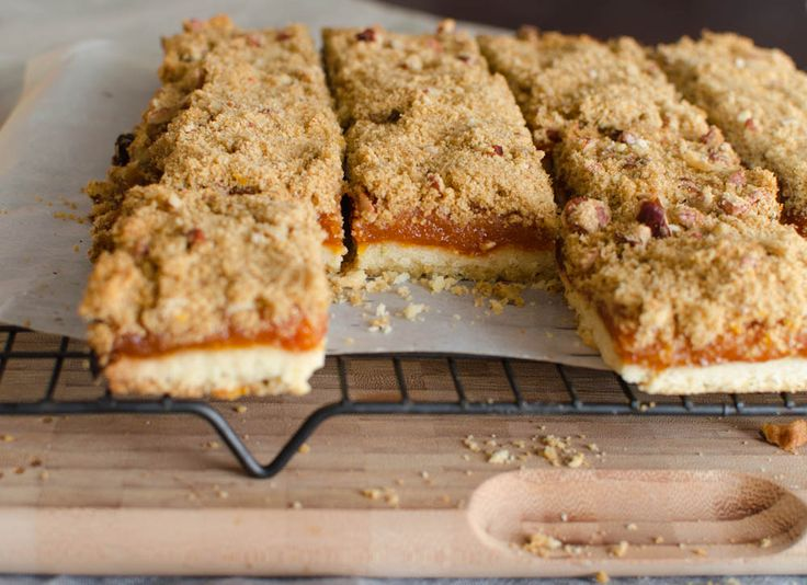 ... flavor combination! | Apricot Rosemary Crumble Bars | @merci-mama.com