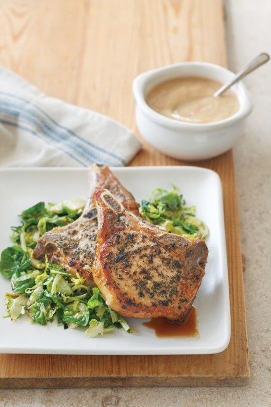 Pork Chops with Horseradish Applesauce | Meaty Feast: Meat Lover's Me ...