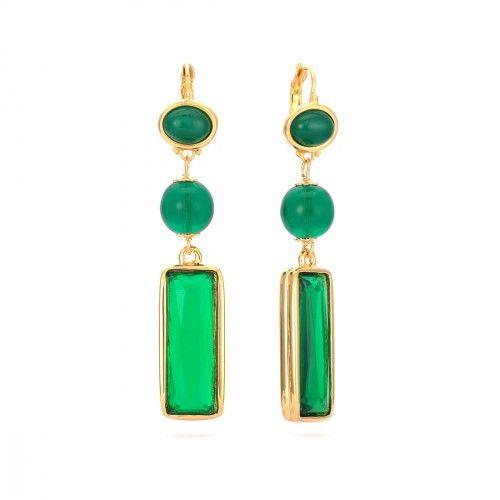 Kenneth jay lane emerald drop