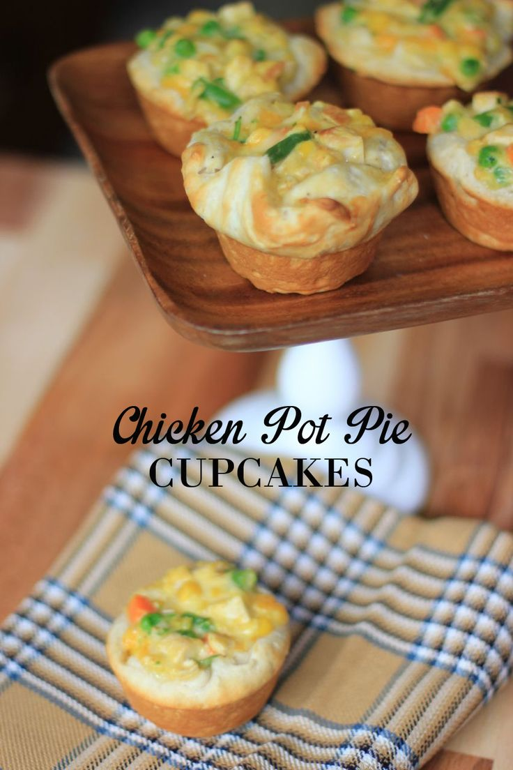 Chicken Pot Pie Cupcakes | | Food : Chicken Recipes | Pinterest