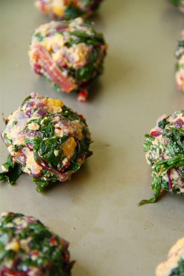 Red swiss chard falafel | FOOD | Pinterest