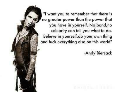 andy biersack quotes on Tumblr - Sign up | Tumblr