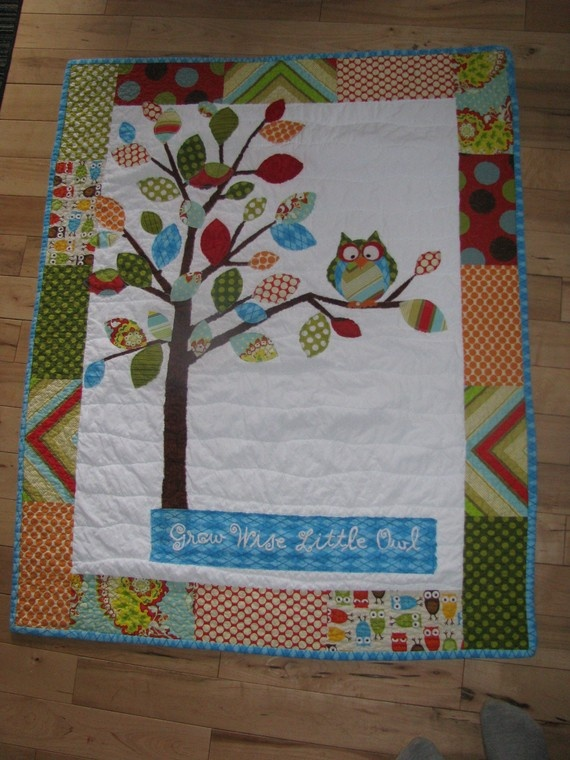 Owl quilt from Etsy