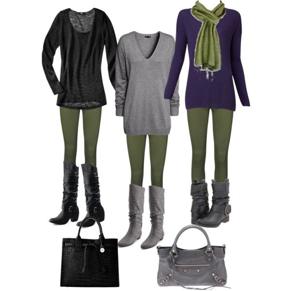 Olive Green leggings. | Outfit ideas | Pinterest