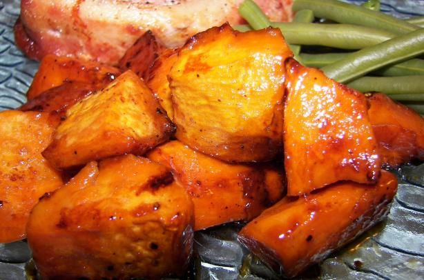 Oven Roasted Honey-Glazed Sweet Potatoes Recipe - Food.com - 145115