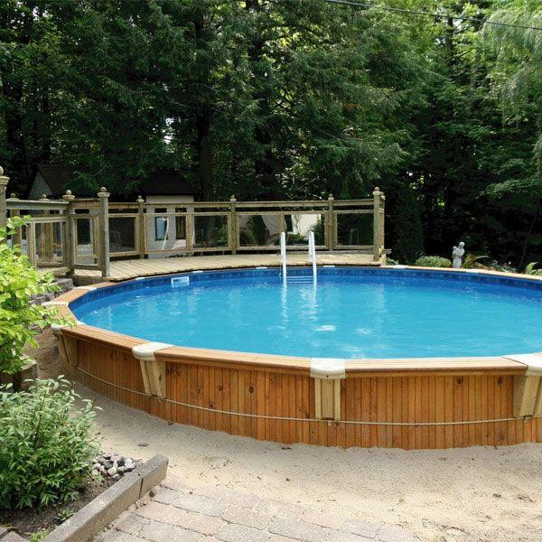 Semi in ground pool pool beach backyard pinterest for Piscine creusee