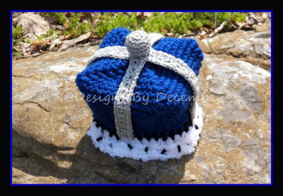 Free King Crown Crochet Pattern : Crocheted Little Prince King Crown Hat 2T to 4T Toddler ...