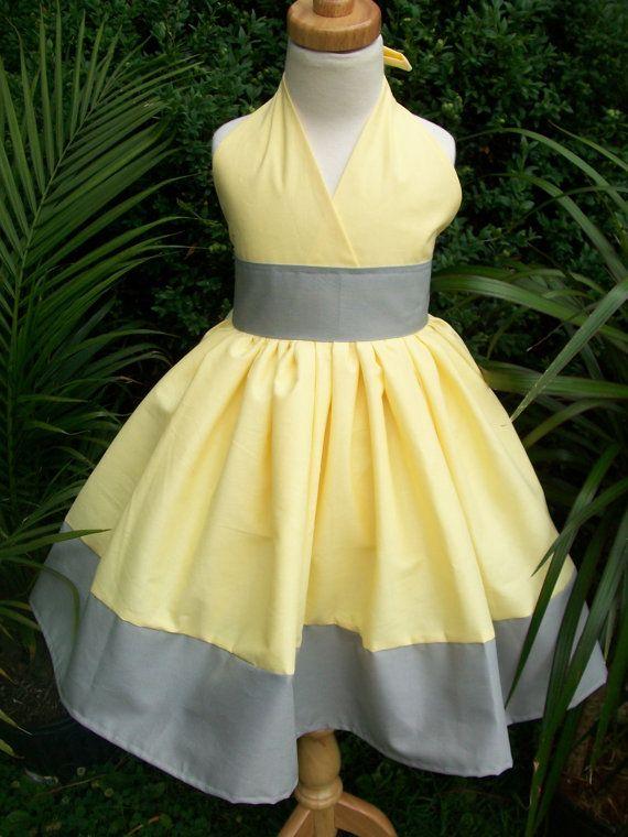 Flower girl dresses gray and yellow wedding dresses asian flower girl dresses gray and yellow 86 mightylinksfo