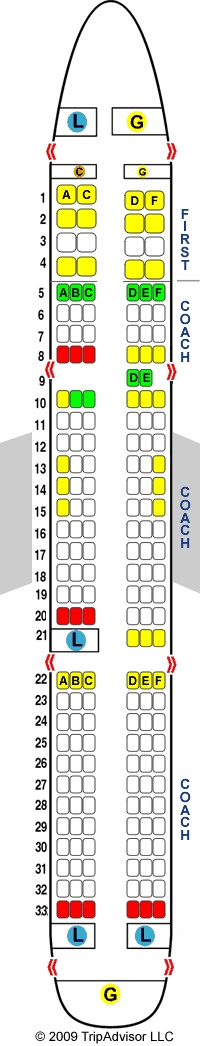 US Airways Airbus A321 321 Seat Map Pinterest