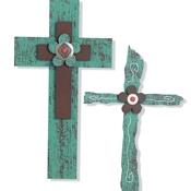 Turquoise Steel Crosses