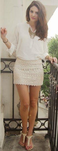 Marvellous Fashionable White Skirt Dress