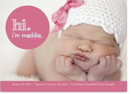 Birth announcement-- love the hat!