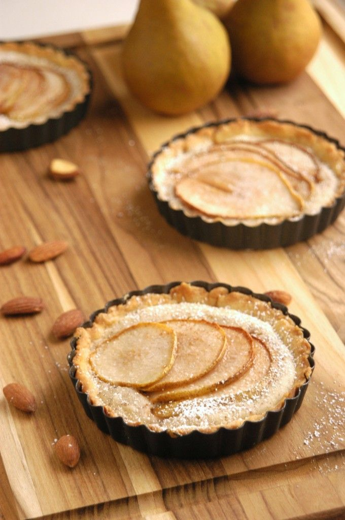 Pear Almond Frangipane Tartlets | Pie and Tart | Pinterest