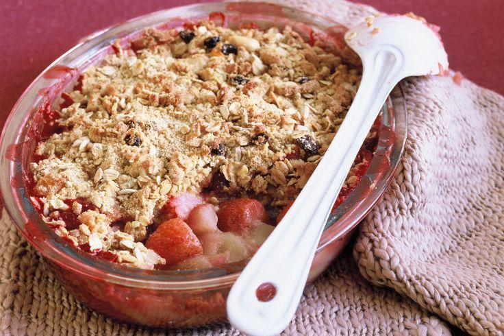 Rhubarb, apple and strawberry crumble   Desserts   Pinterest