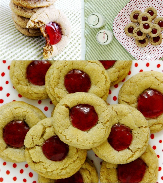 Peanut Butter and Jelly Thumbprints | Coooooookies!!! | Pinterest