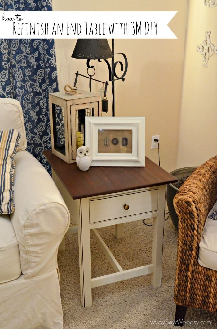 How to refinish an end table painting diy pinterest for How to refinish a table with paint
