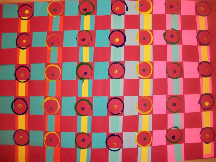 we heart art: circle, circle, dot, dot weavings