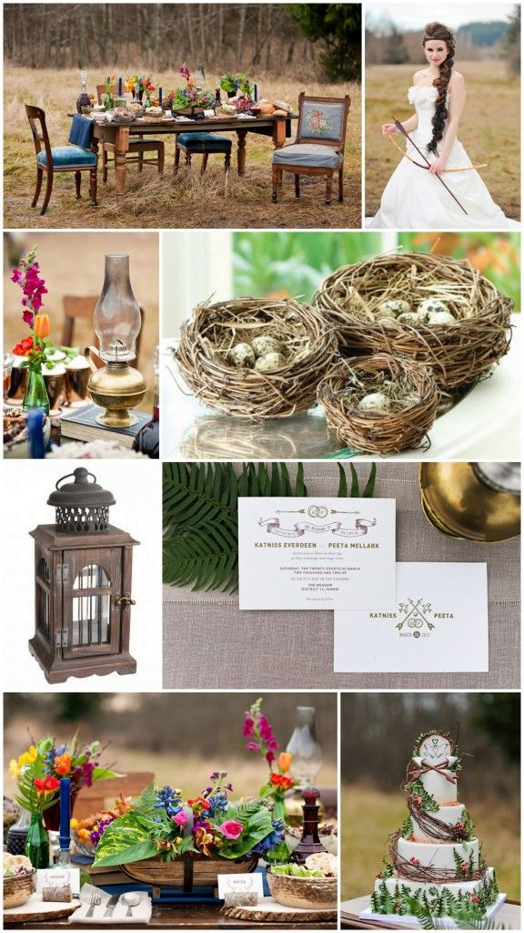 Love some of these ideas for a Hunger Games inspired wedding or party