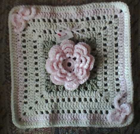 pretty square - crochet free pattern crochet, knit, embroidery and ...