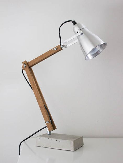 Diy industrial style wooden desk lamp home inspiration space and p