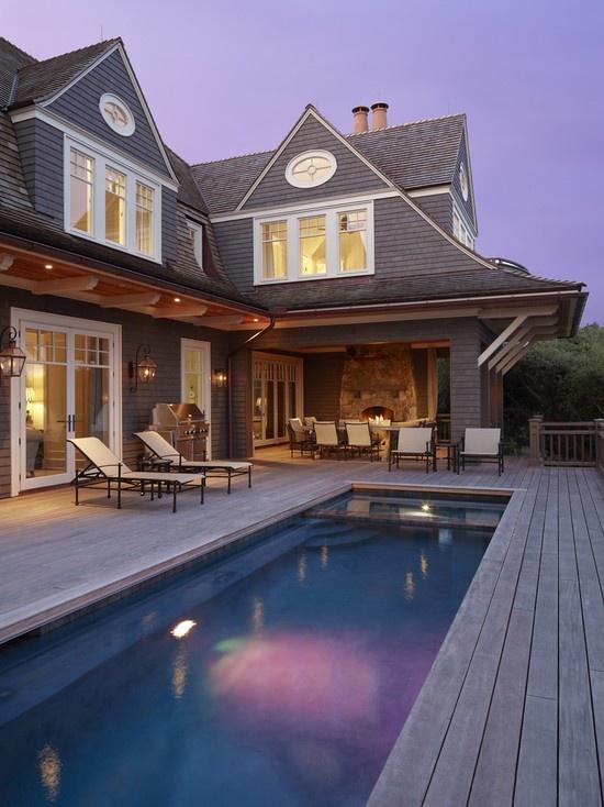 Nice Pool And Nice House Home Decor Pinterest