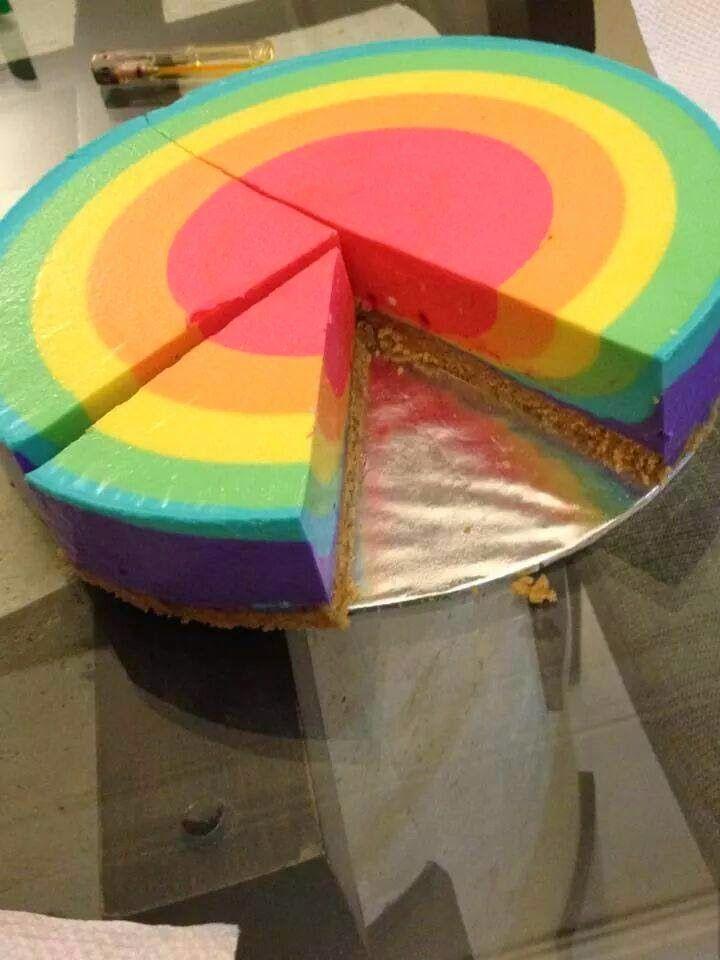Rainbow cheesecake | Foodies | Pinterest