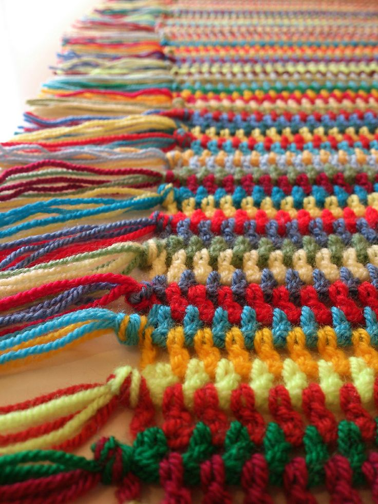Crochet Scarf Pattern Vertical Stripes : Ravelry: Project Gallery for Vintage Vertical Stripe ...
