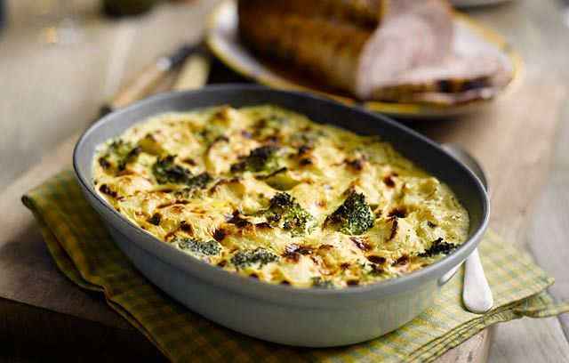 Broccoli and Cauliflower Gratin - a really cozy dish for cold evenings ...
