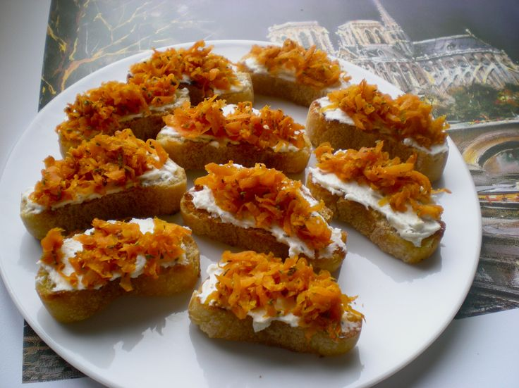... Carrots With Thyme And Goat Cheese Crostini Recipe — Dishmaps