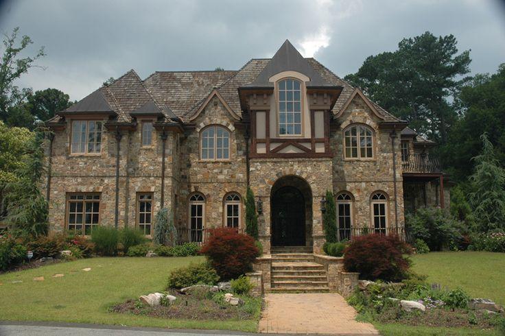 Old world home design tudor home elevations pinterest for English manor home designs