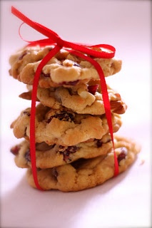 Cranberry Almond White Chocolate Cookies
