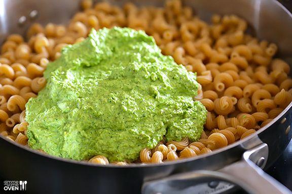 Asparagus-Spinach Pesto Pasta