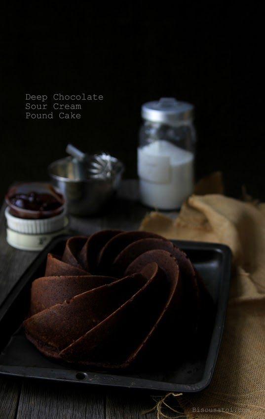 DEEP CHOCOLATE SOUR CREAM POUND CAKE | Dessert Recipes | Pinterest