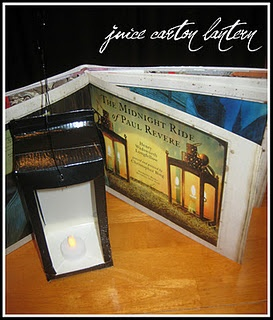 Juice Carton Latern to go with Paul Revere's Ride.