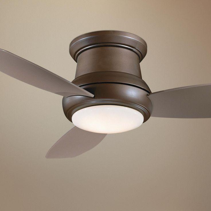 """44"""" Minka Concept II Bronze Hugger Style Ceiling Fan"""