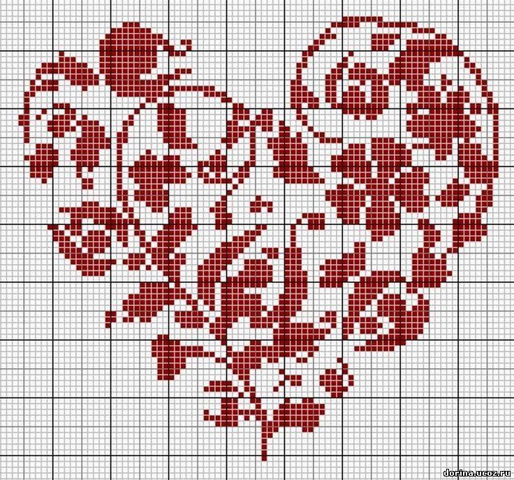 Вышивки крестиком схема сердца 19
