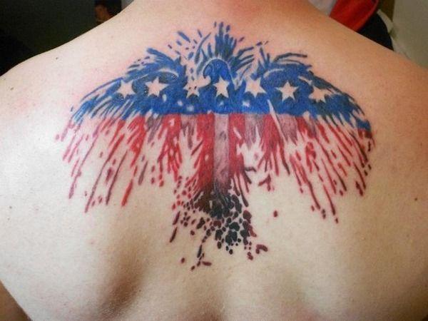 Eagle american flag tattoo cool tats pinterest for American flag eagle tattoo