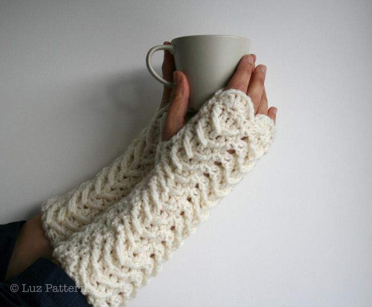 Crochet Patterns Gloves Fingerless : Crochet pattern, fingerless gloves Crochet Pinterest
