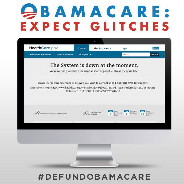 "Obamacare is one BIG ""glitch."" But we can fix it. -- Sen. Ted Cruz"
